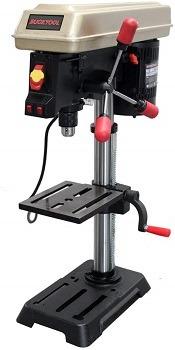 BUCKTOOL Drill Press 10 inch 5 Speed Laser Track Guided Bench